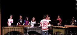 Advanced Percussion Performs in Chapel!