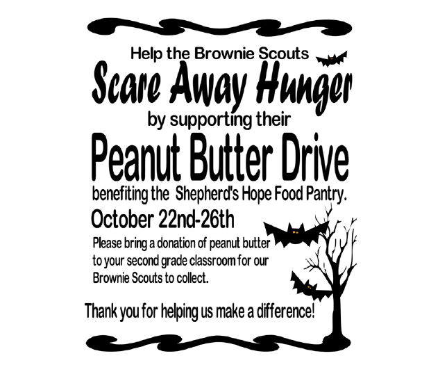 LS 2nd Grade Brownie Troop 6129 - Peanut Butter Drive