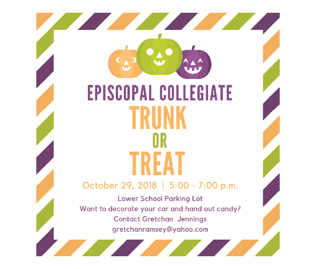 Trunk or Treat – Monday, October 29